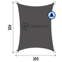 Zonnedoek van 3 bij 4 meter waterproof in de kleur Grijs
