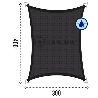 Schauwdoek in de kleur zwart afmeting 4x3 meter waterdoorlatend