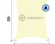 waterproof schaduwdoek van 3 bij 4 meter Sunfighters