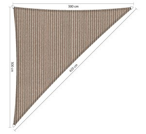 Zonnedoeken driehoek-300x300x420cm